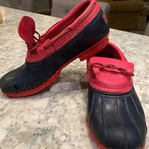 LL Bean Boots - Rare Pink and Blue Size 8